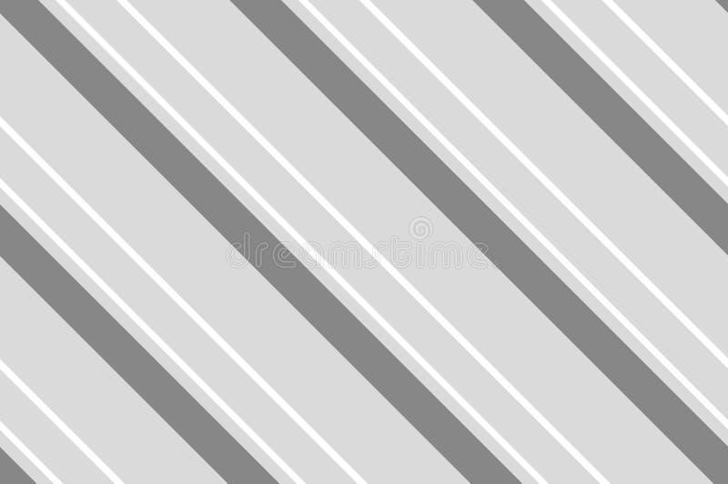 Seamless pattern. Grey Stripes on white background. stock illustration