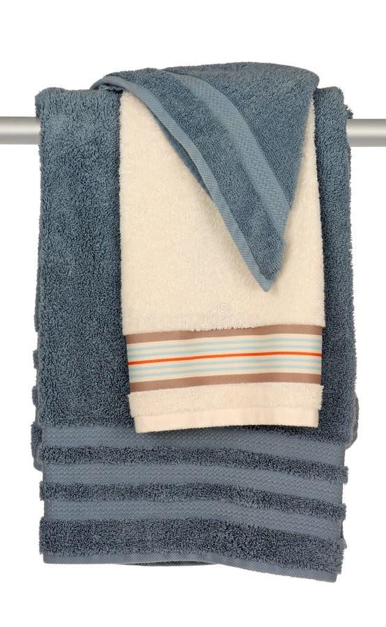 полотенца ванны стоковая фотография rf