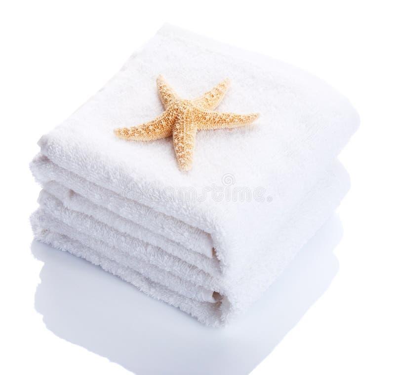 полотенца стога стоковые фотографии rf
