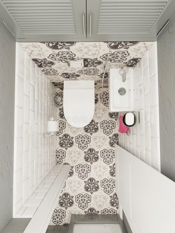 полотенце интерьера шара ванной комнаты иллюстрация вектора