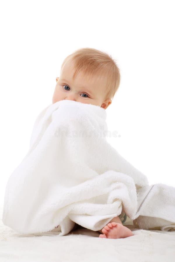 полотенце ребёнка стоковое изображение