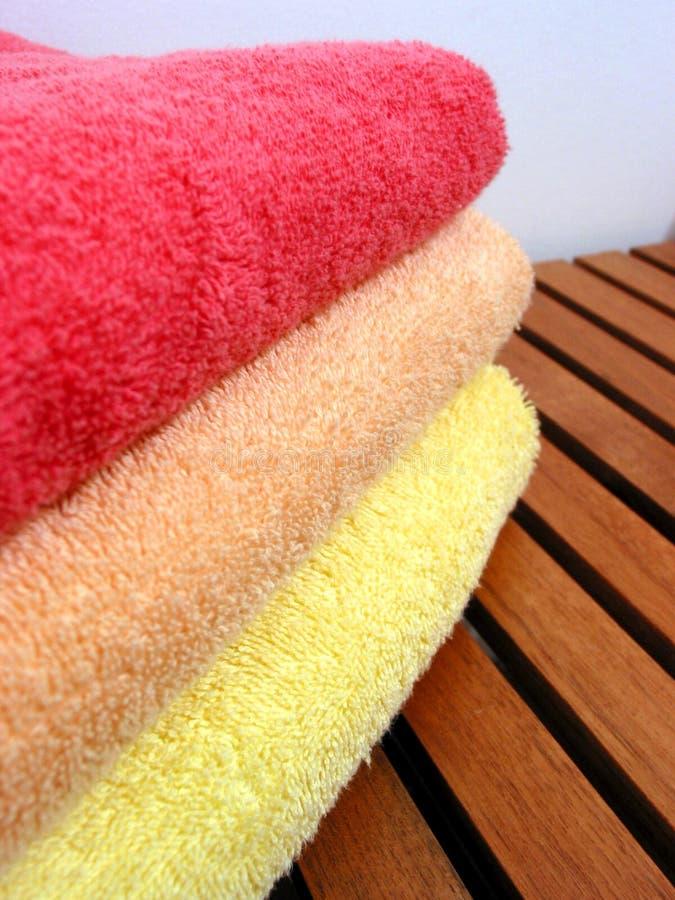 полотенце 4 стогов стоковые фотографии rf