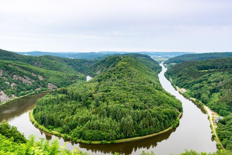 Полуостров петли реки стоковая фотография rf
