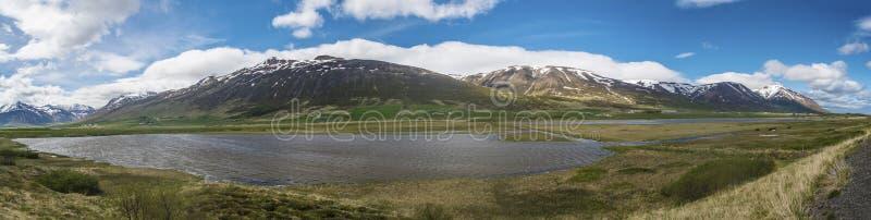 Полуостров Trollaskagi панорамный стоковые изображения rf