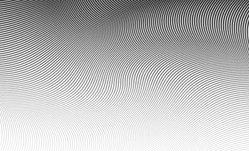 Полутоновое изображение градиента ставит точки предпосылка Шаблон искусства шипучки, текстура Ve иллюстрация штока
