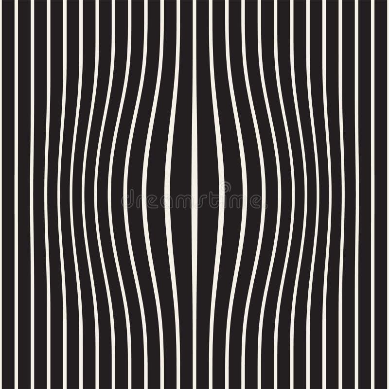 Полутоновое изображение коптит обман зрения влияния Абстрактный геометрический дизайн предпосылки белизна вектора черной картины  иллюстрация штока