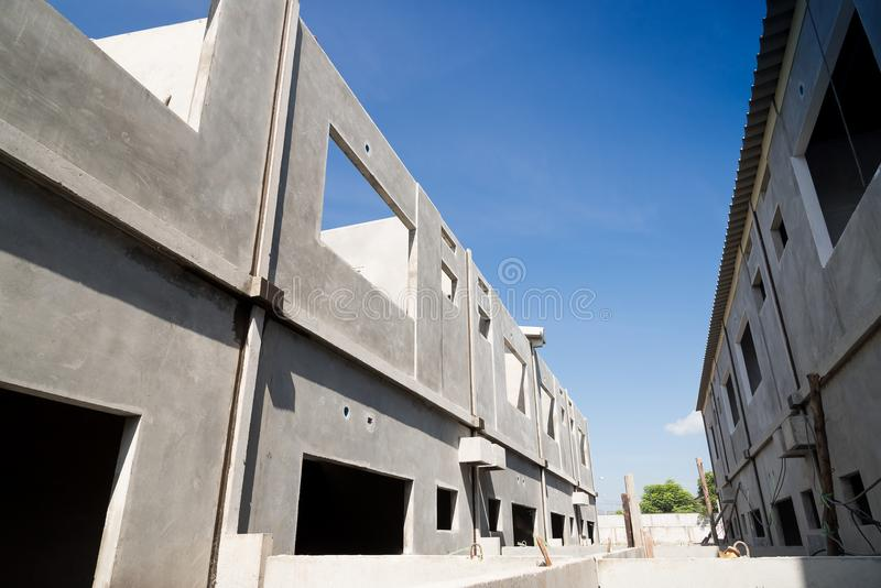 Полуфабрикат здание стоковые изображения rf
