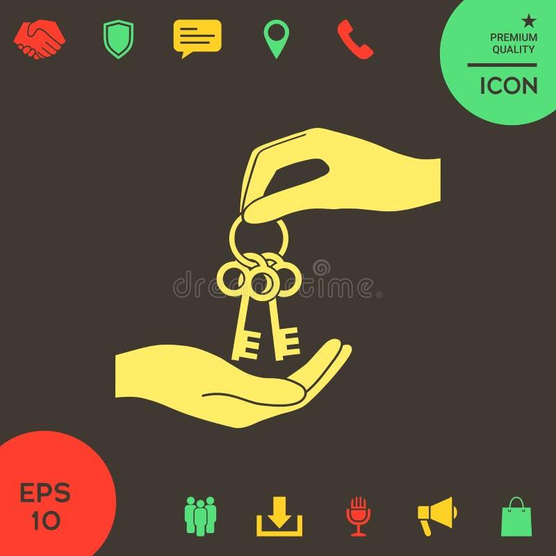 Получающ пук ключей - значок бесплатная иллюстрация