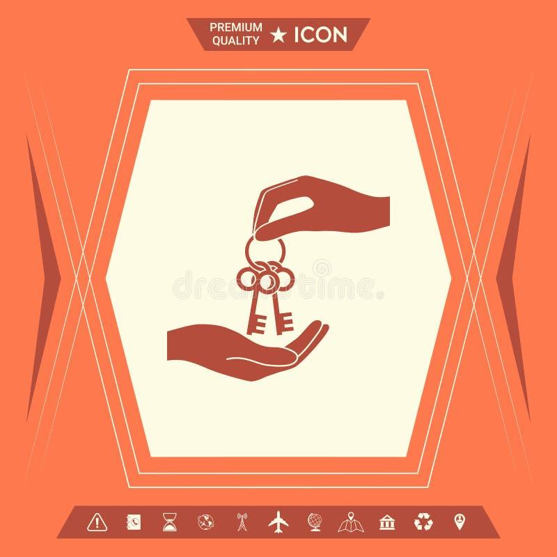 Получающ пук ключей - значок иллюстрация вектора