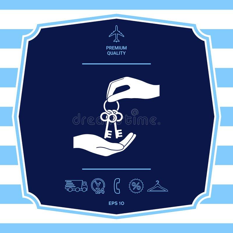 Получающ пук ключей - значок r иллюстрация штока