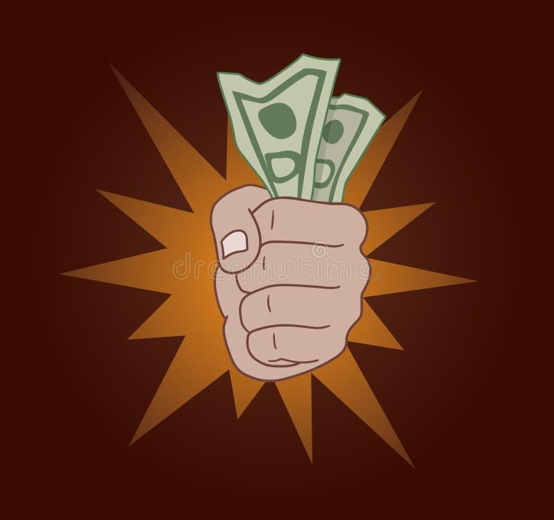полученные деньги иллюстрация вектора