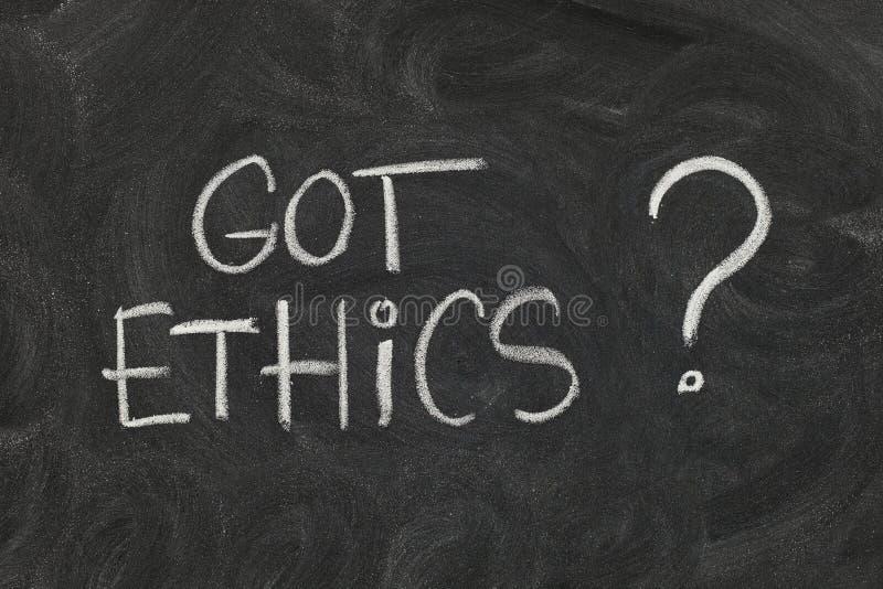 полученные этики стоковое изображение