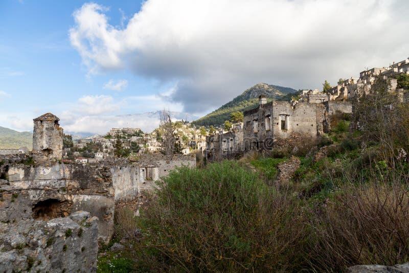 Получившаяся отказ греческая деревня Kayakoy, Fethiye, Турция стоковая фотография