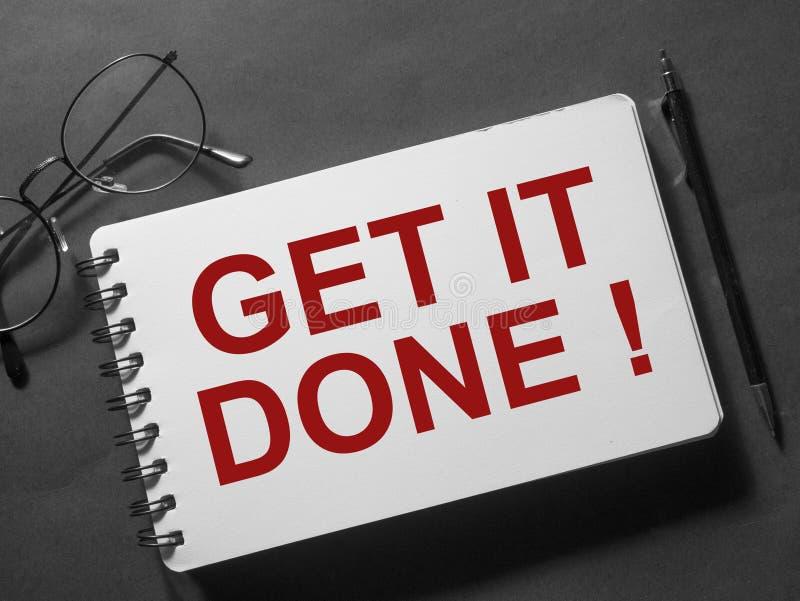 Получите его сделанная, мотивационная концепция цитат слов стоковое изображение rf