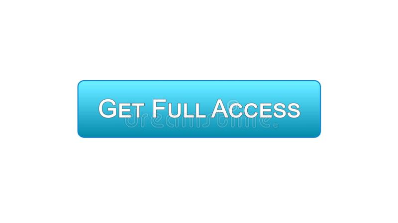 Получите кнопке интерфейса сети полного доступа голубой цвет, онлайновую программу, подписку бесплатная иллюстрация