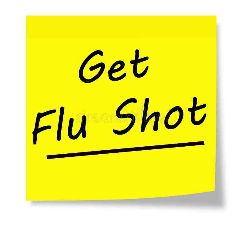 Получите прививку от гриппа иллюстрация штока