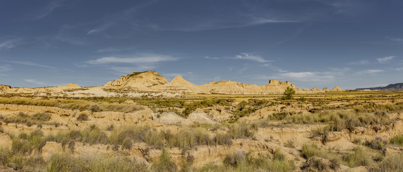 Полу-пустыня Bardenas Reales стоковая фотография