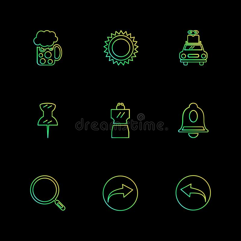 пользовательский интерфейс, значки применения, сообщения, книги, значок eps иллюстрация вектора