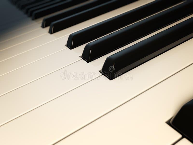 пользует ключом рояль макроса бесплатная иллюстрация