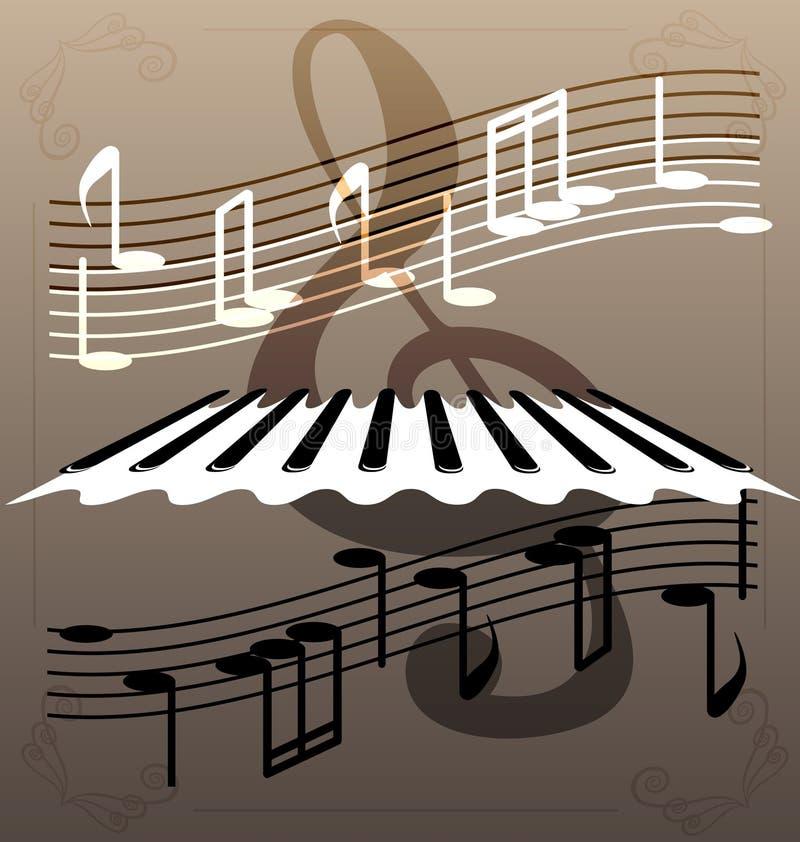 пользует ключом рояль бесплатная иллюстрация