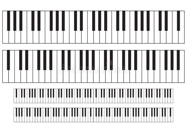 пользует ключом рояль иллюстрация вектора