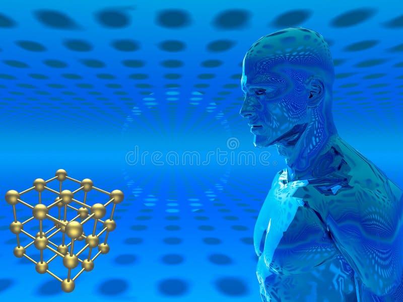 полька человека кубика квасцов иллюстрация штока