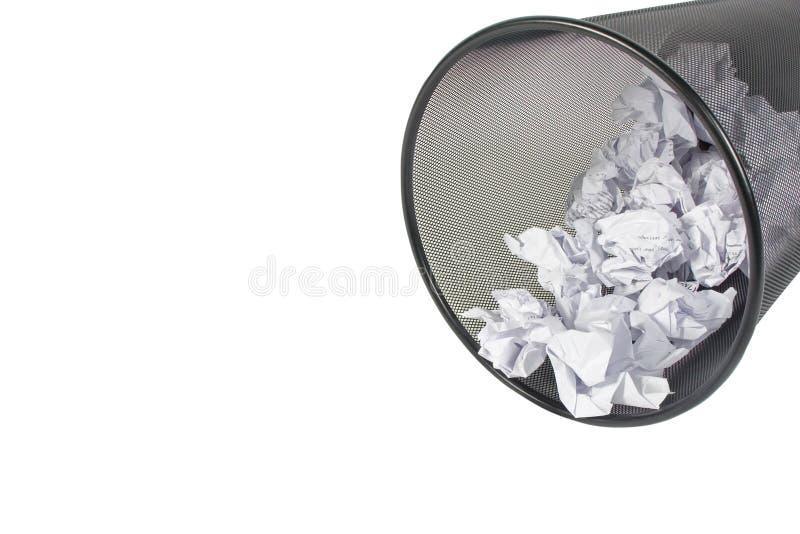 польностью бумажная погань стоковое изображение rf