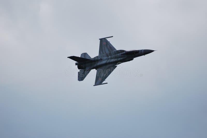 Польские Военно-воздушные силы F16 стоковое изображение rf