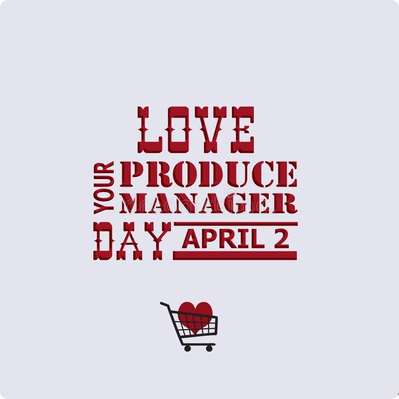Полюбите ваш день менеджера продукции иллюстрация штока