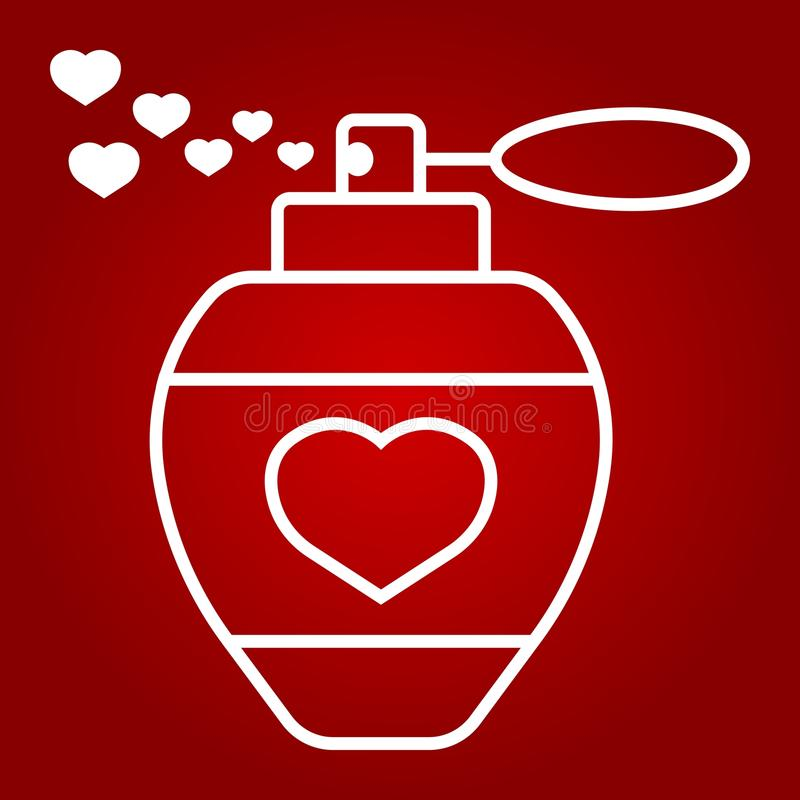 Полюбите дух с линией сердец значком, днем валентинок бесплатная иллюстрация
