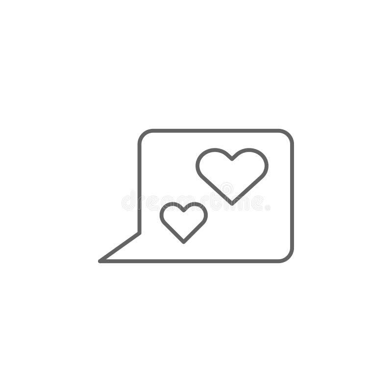 полюбите значок плана приятельства сообщений Элементы линии значка приятельства Знаки, символы и векторы можно использовать для с иллюстрация вектора