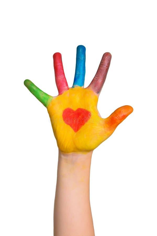 Полюбите, помогите, позаботьте, сердце, волонтер, концепция счастья стоковые изображения