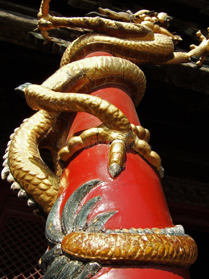 полюс дракона стоковые фотографии rf