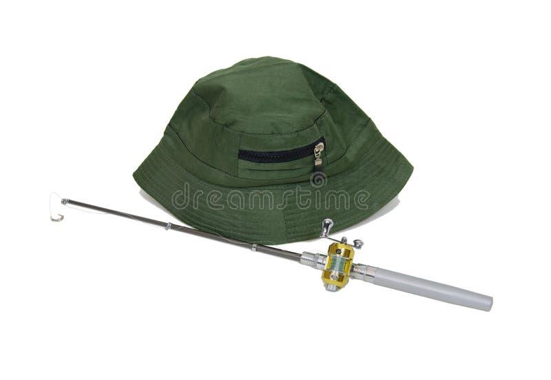 полюс шлема рыболовства стоковая фотография rf