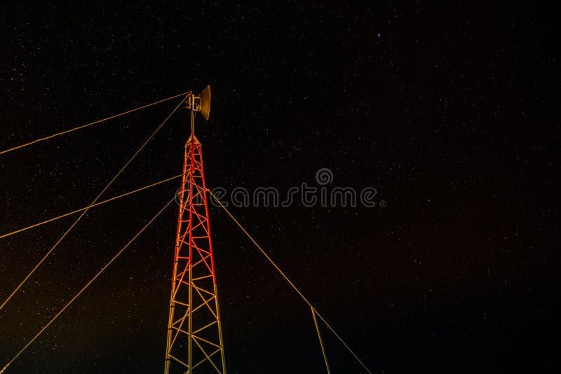 Поляк антенны вечером от низкого угла стоковые фотографии rf