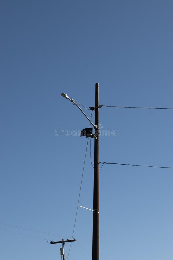 Поляк телефона с голубым небом стоковые фотографии rf