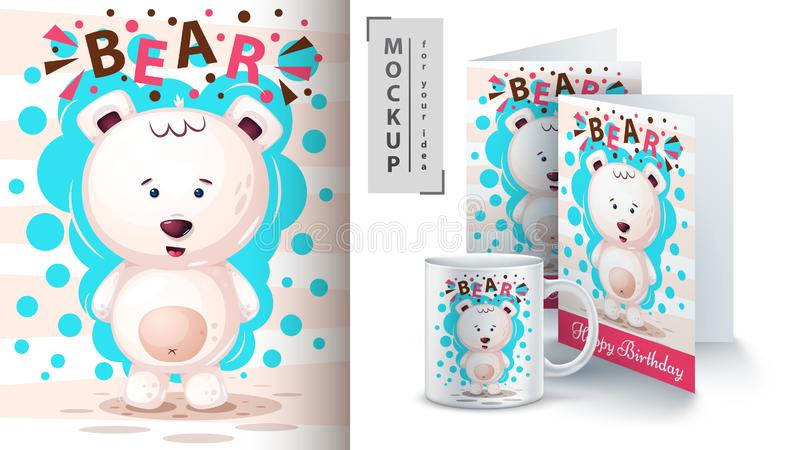 Полярный медведь - модель-макет для вашей идеи бесплатная иллюстрация