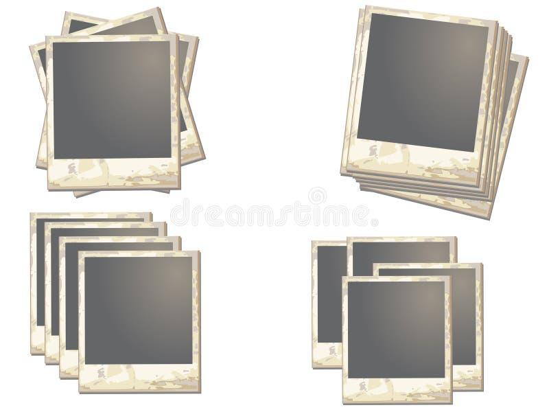 поляроид рамки старый иллюстрация штока