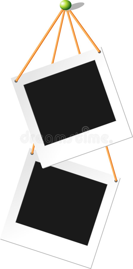 поляроид fix карточки иллюстрация штока