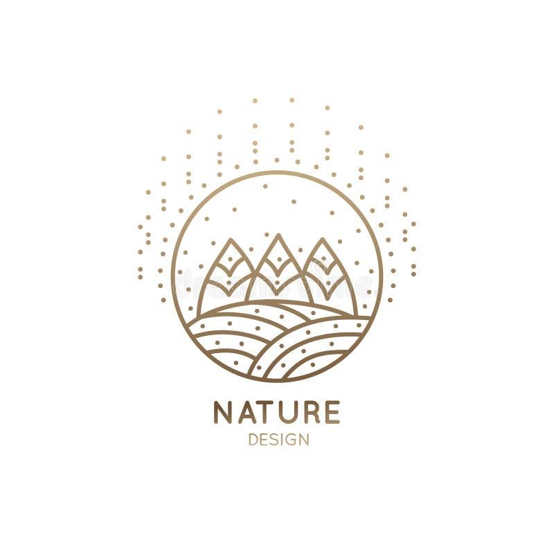 Поля и лес логотипа бесплатная иллюстрация