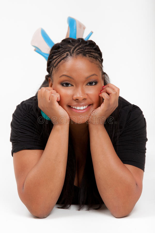 пол афроамериканца красивейший лежал стоковые фото