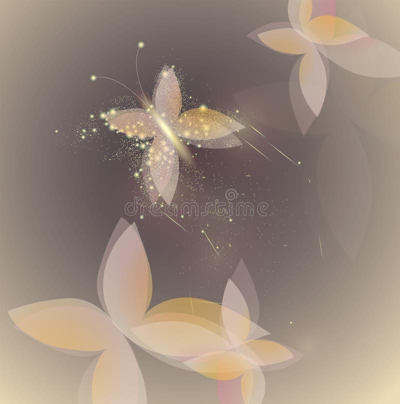 помадка бабочки shinning иллюстрация штока