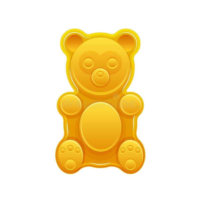 Помадка, конфета плодоовощ, мягкий студень Конфеты сахара в медведе формы иллюстрация вектора