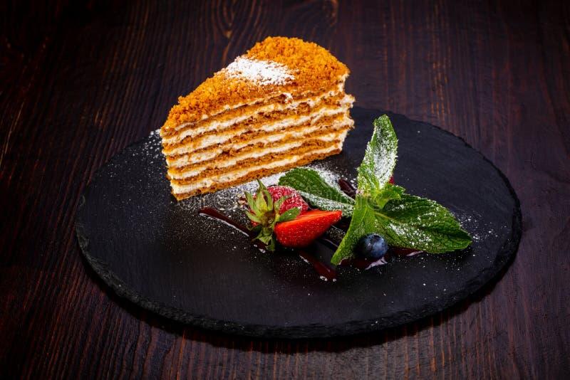 помадка меда торта стоковые изображения rf