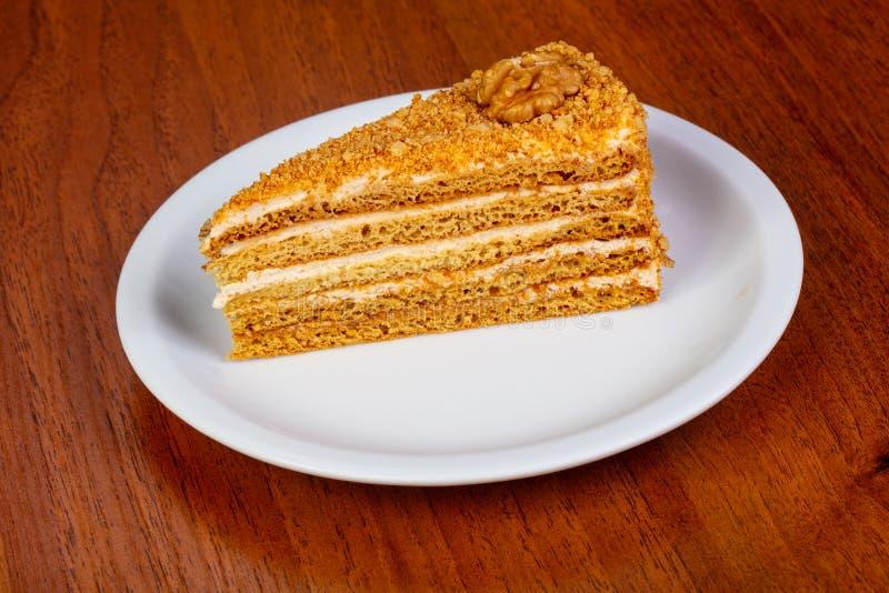 помадка меда торта стоковое изображение