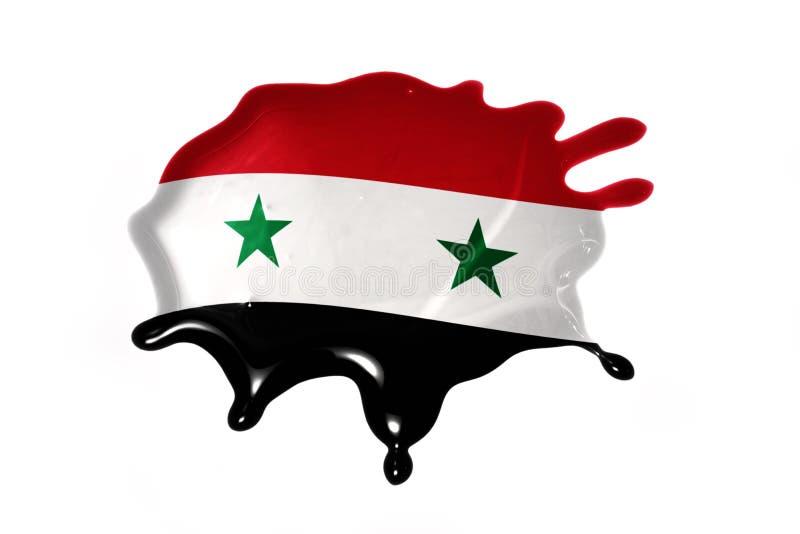 Помарка с национальным флагом Сирии стоковое изображение