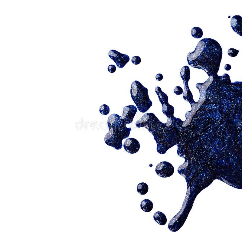Помарки голубого маникюра стоковые изображения