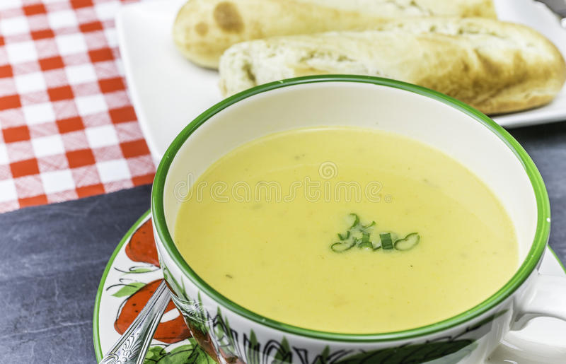 помадка супа картошки стоковые фото