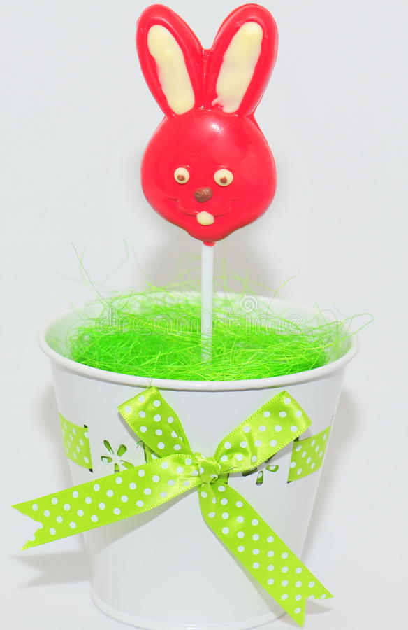 Помадки пасхи - зайчик шоколада стоковые изображения rf