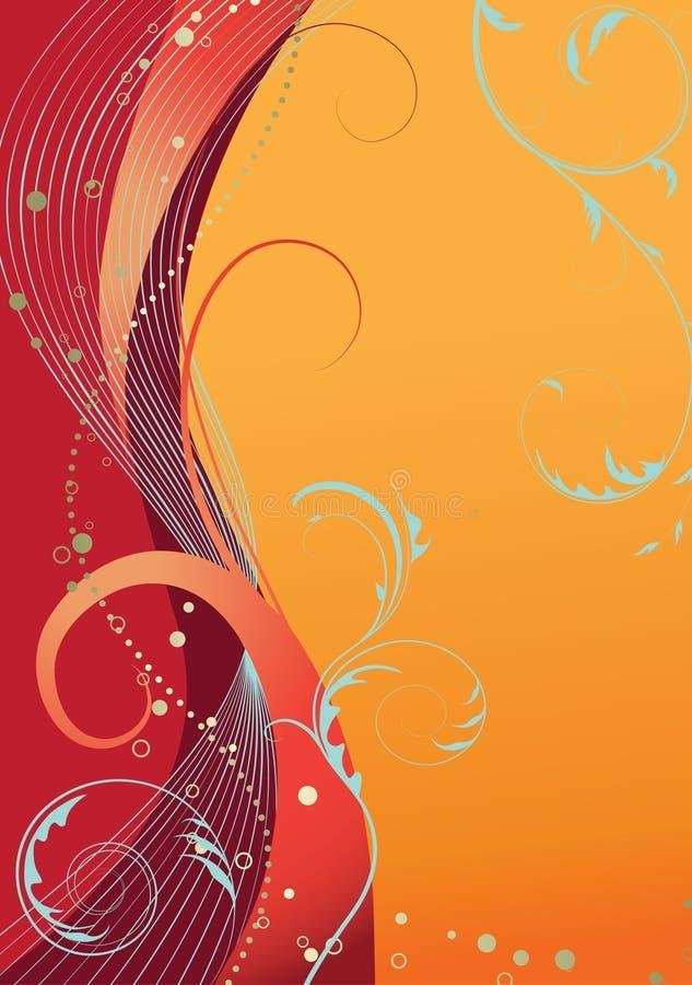 помеец абстрактной предпосылки флористический иллюстрация штока
